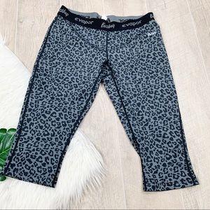 Eastbay Leopard Printed Crop Athletic Pants 3146